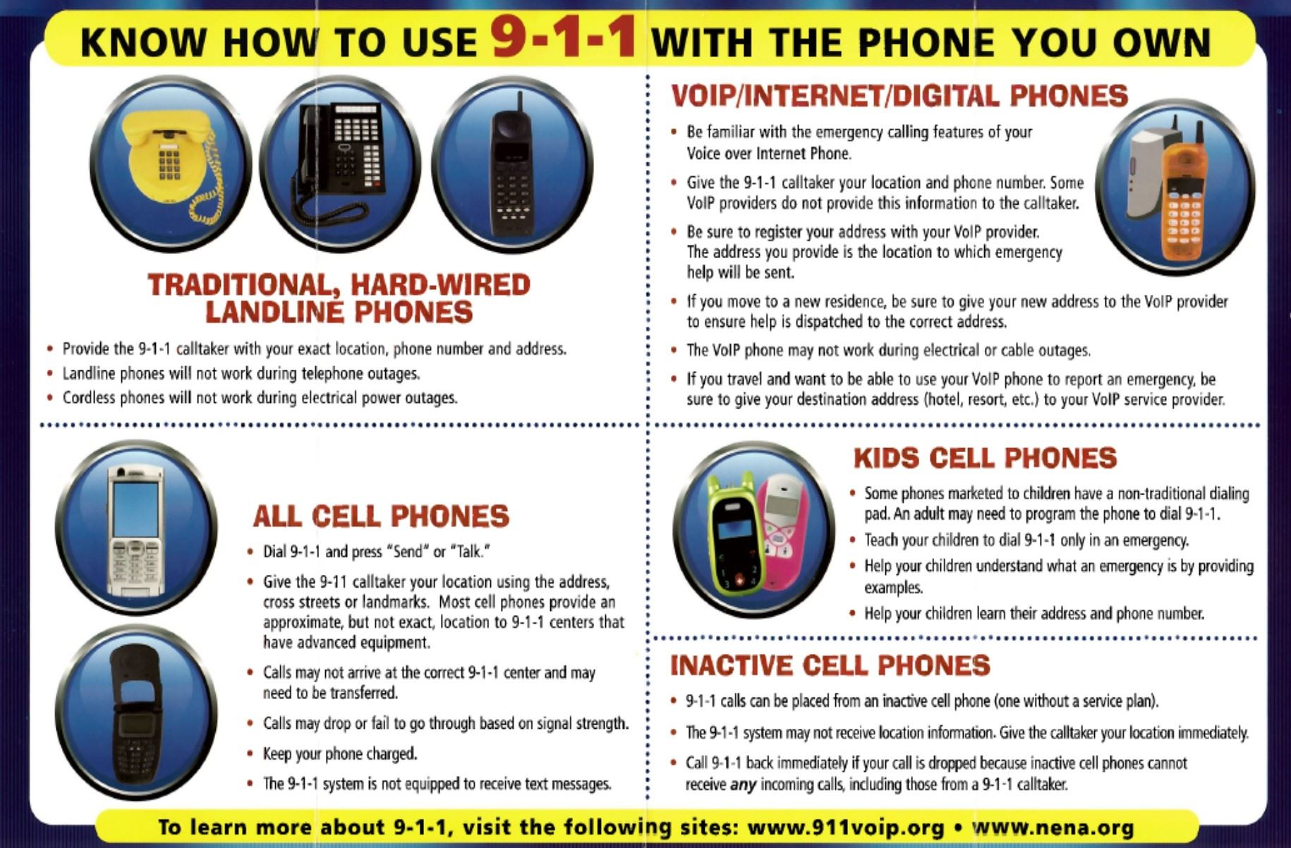Know How To Use 9-1-1 With The Phone You Own