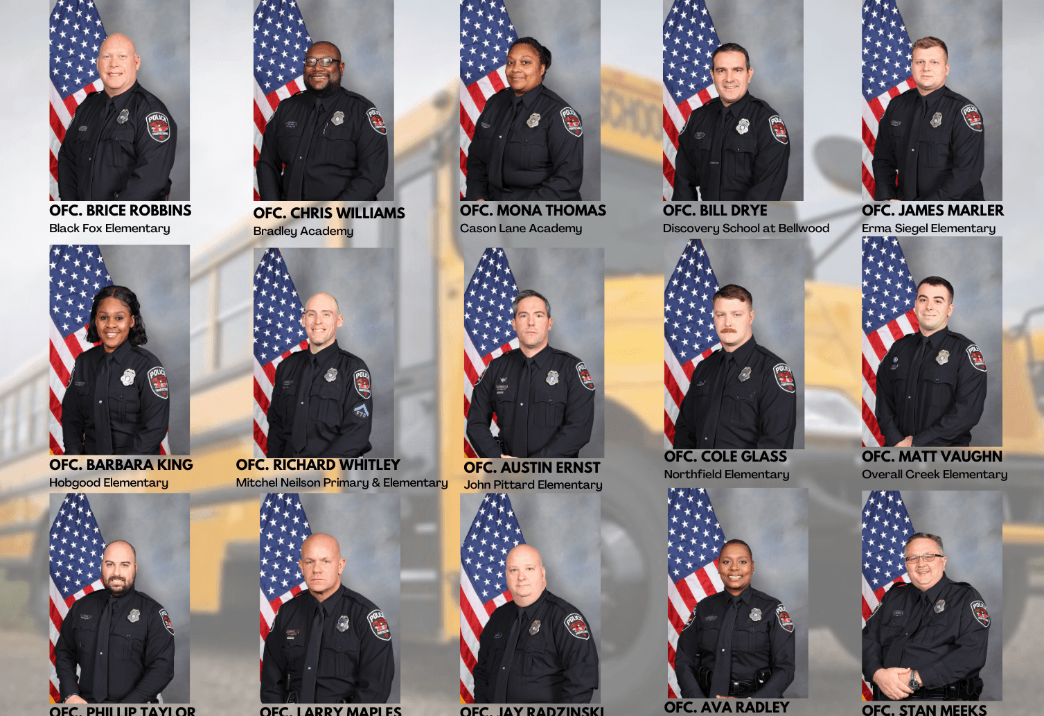 SCHOOL RESOURCE OFFICERS PHOTO