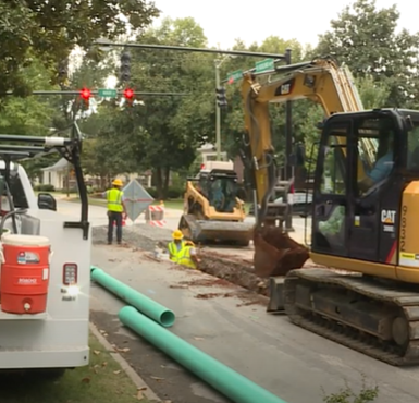 Highland Ave Water Main Repair
