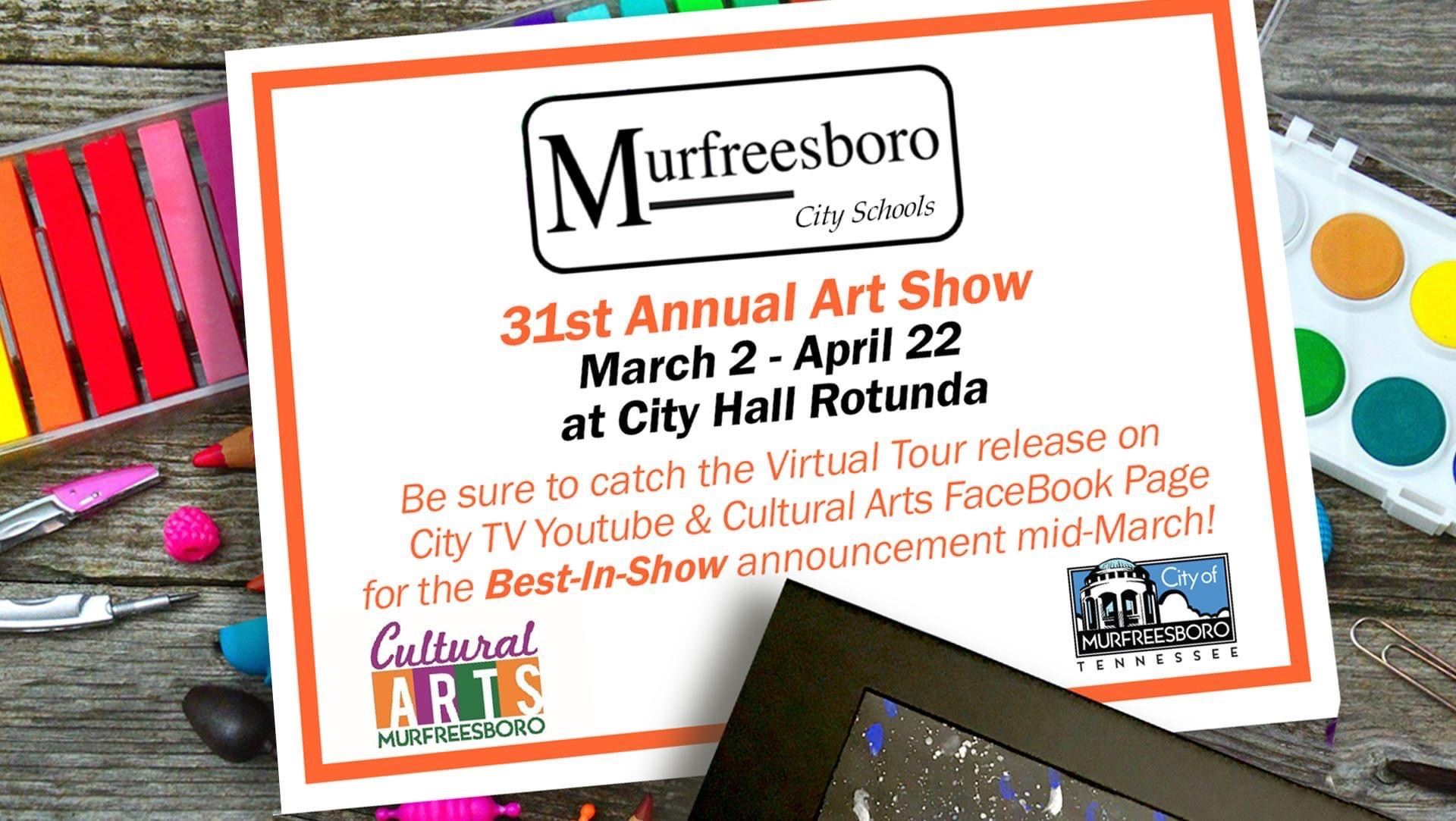 Poster for MCS Rotunda Art Show