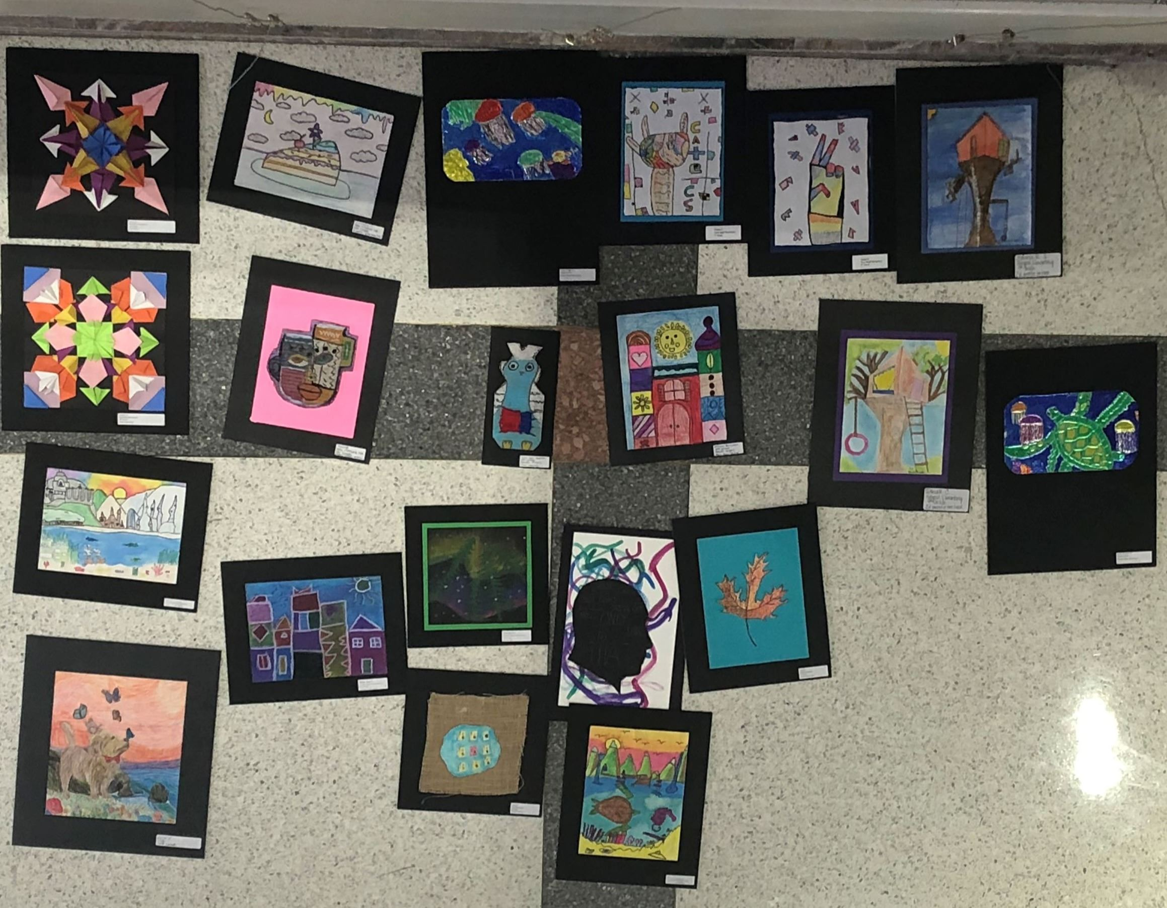 Pieces of art from Murfreesboro City Schools on ready for Rotunda installation