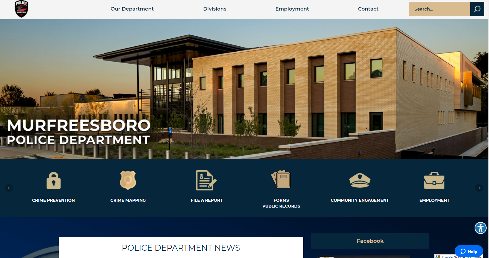 NEW POLICE WEBPAGE
