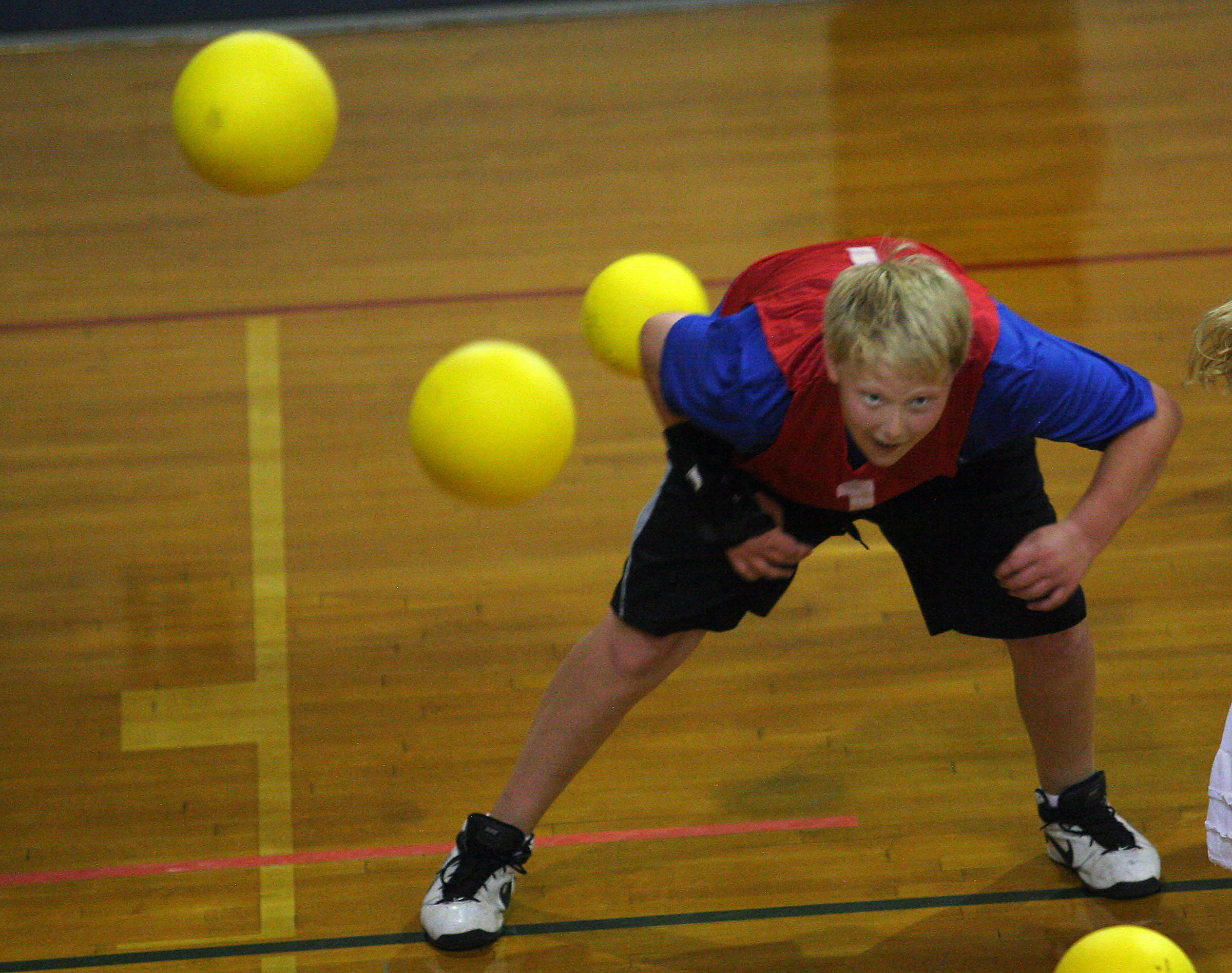 dodgeball at sports Camp