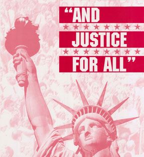 """And Justice for all"" Photo of Statue of Liberty"