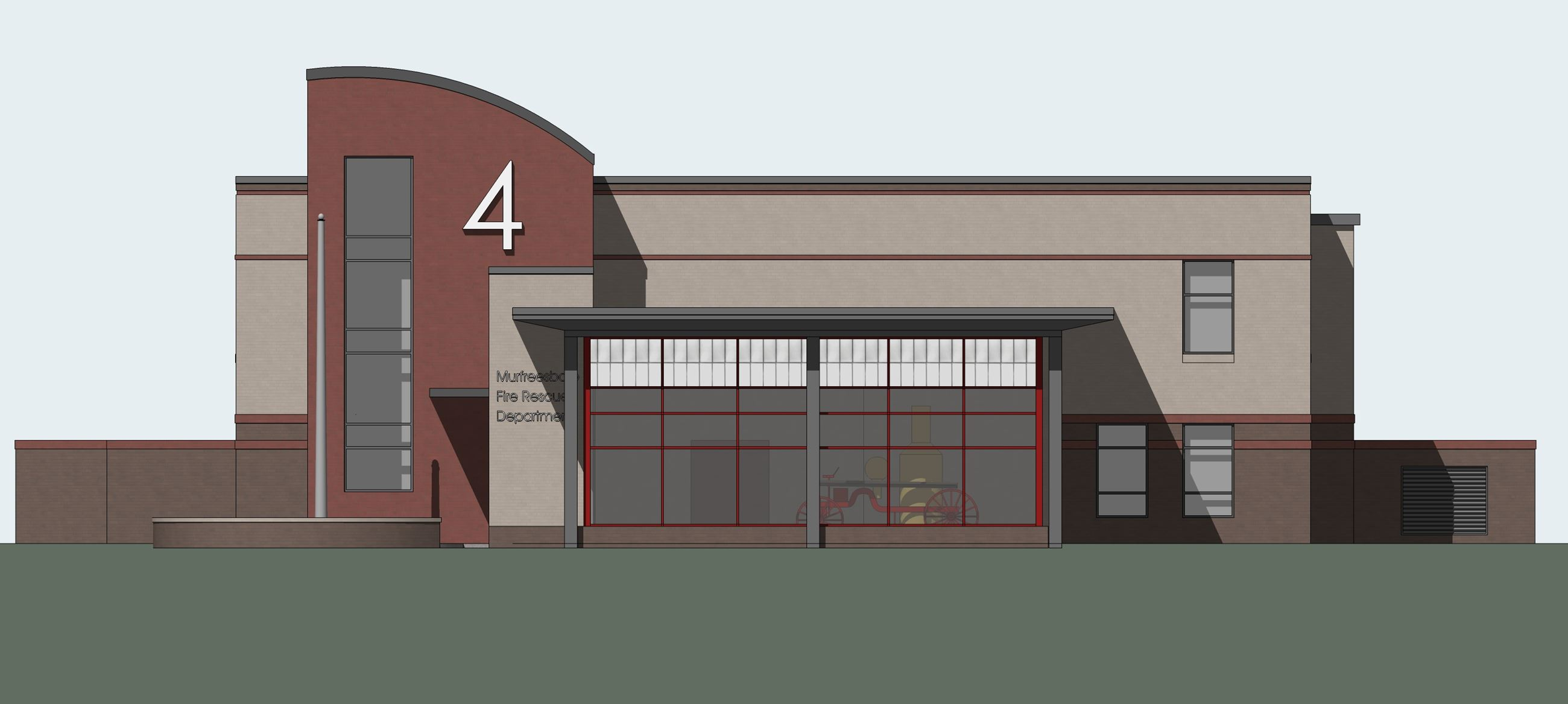 1 Station 4 artist rendition North Elevation