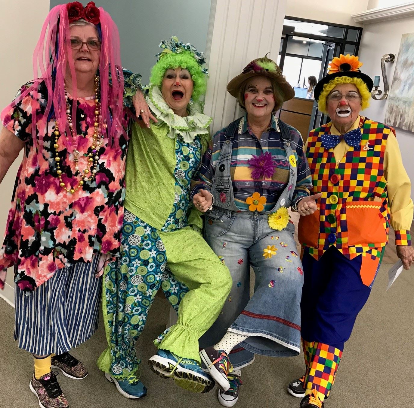 St. Clair Happy Clowns RagMop, Giggles, Trixie and Rainbow