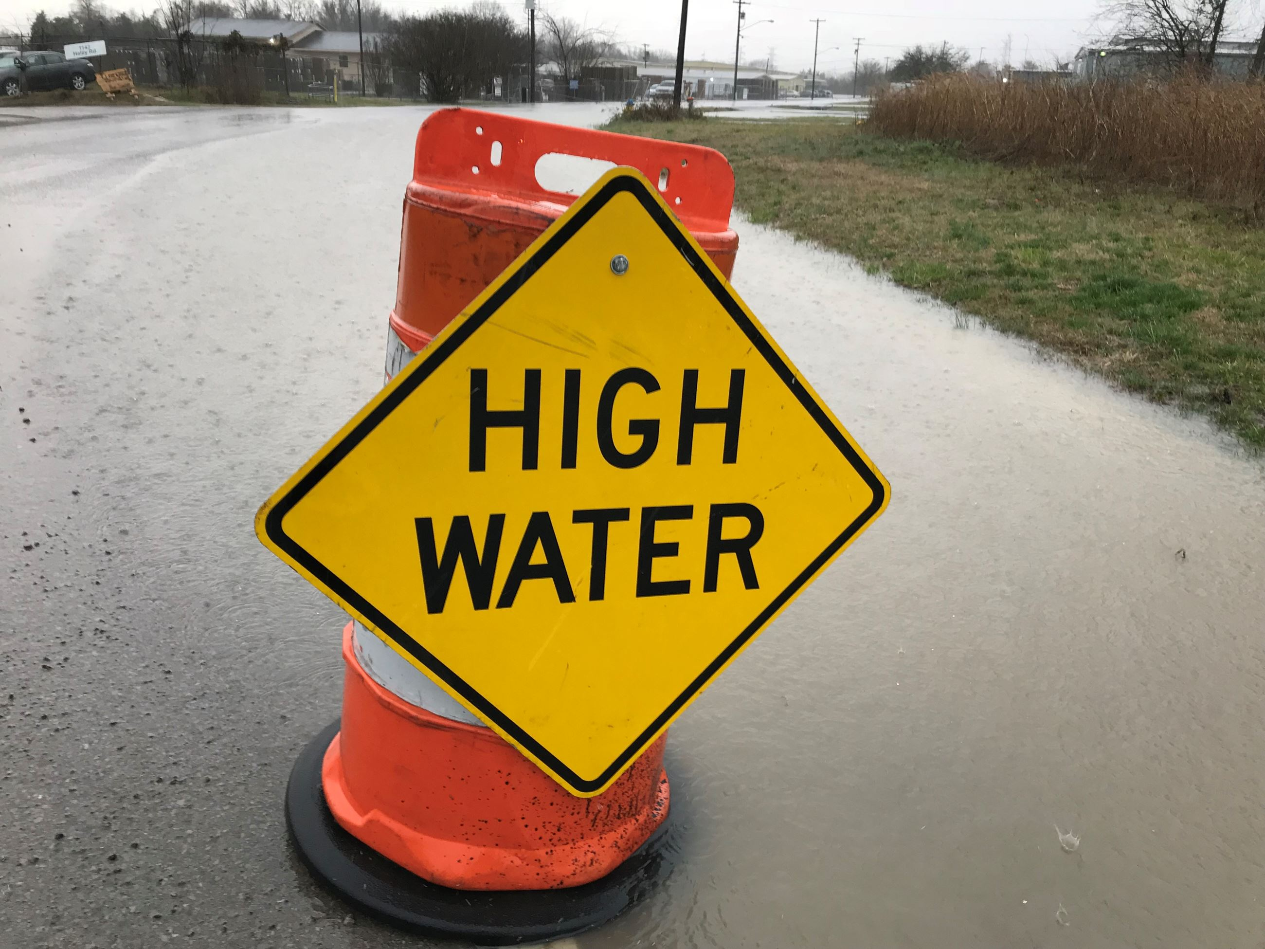 Haley Rd high water sign