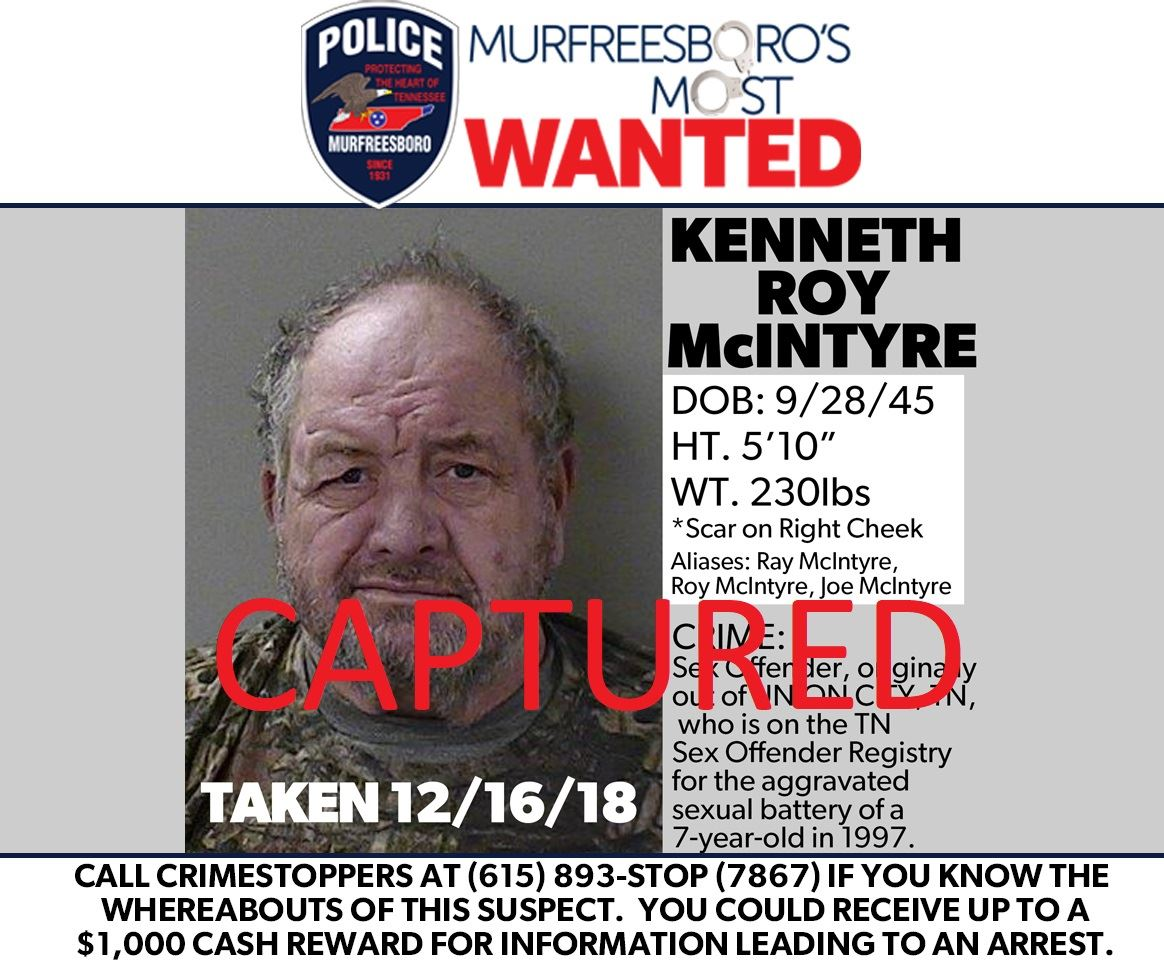 Kenneth McIntyre Captured