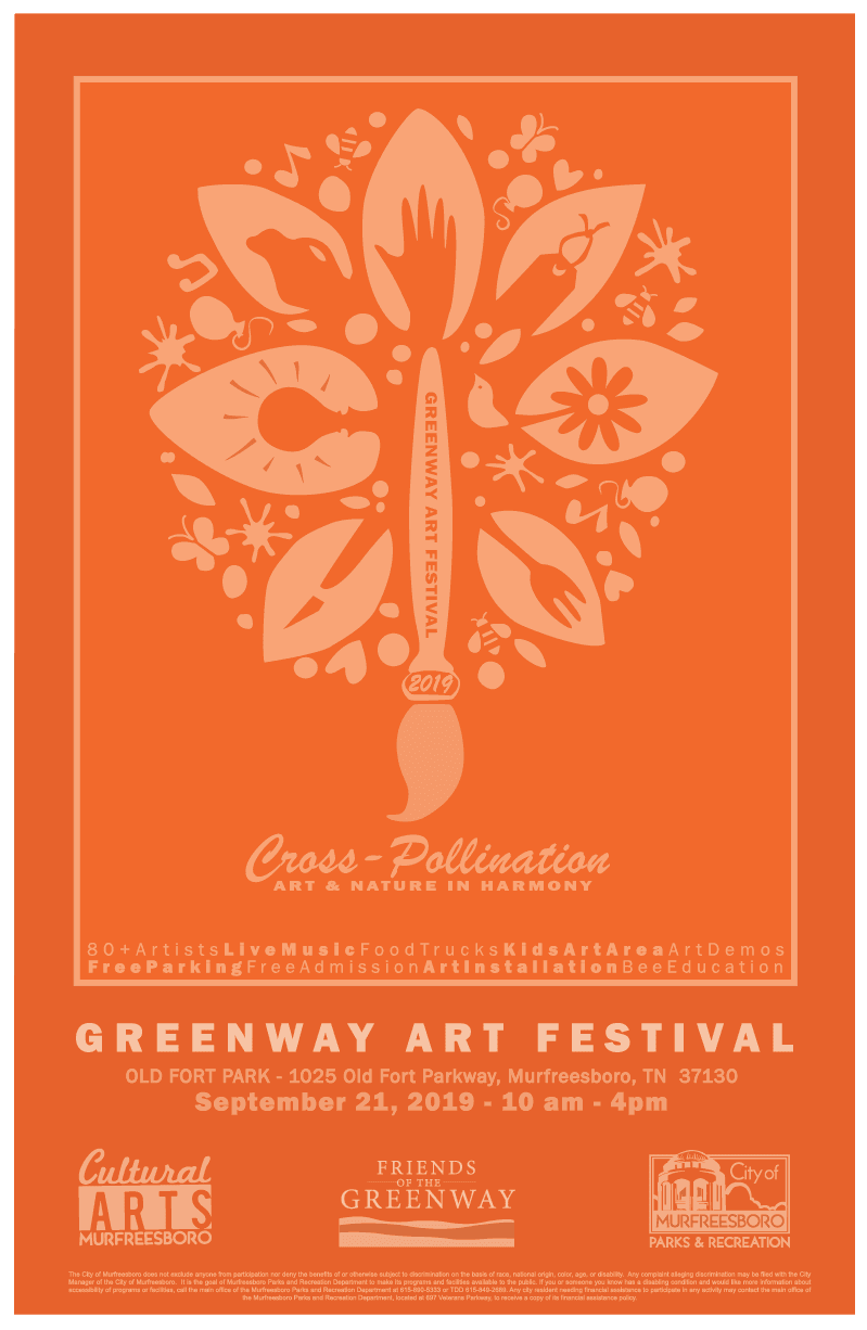 Greenway Art Festival poster 2019