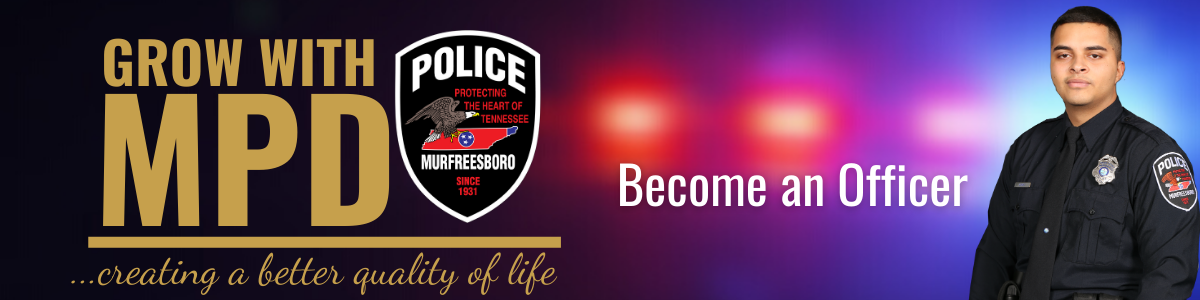 GROW WITH MPD BECOME OFFICER BANNER