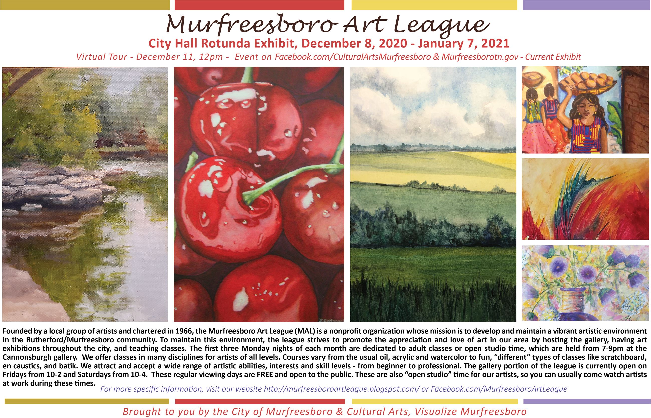 Murfreesboro Art League Art in the Rotunda Information Poster
