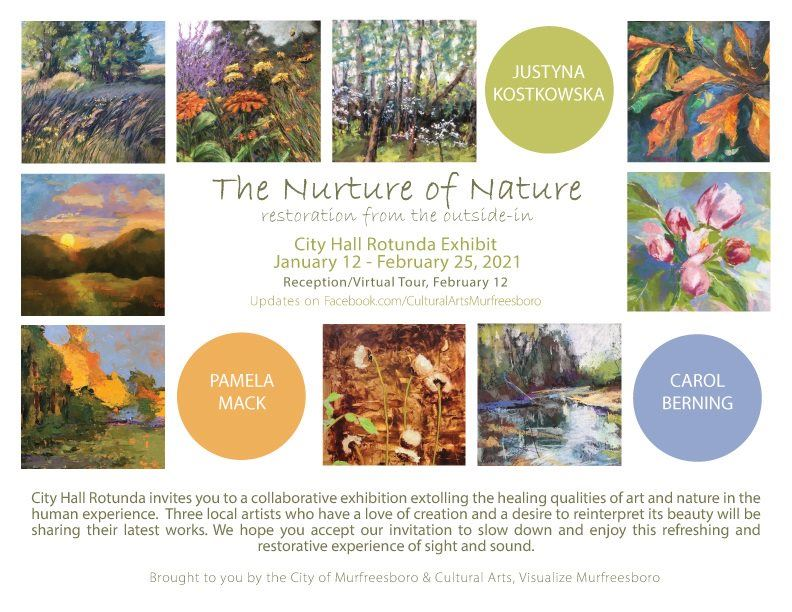 Information about the Nurture of Nature Exhibit in the Rotunda at City Hall