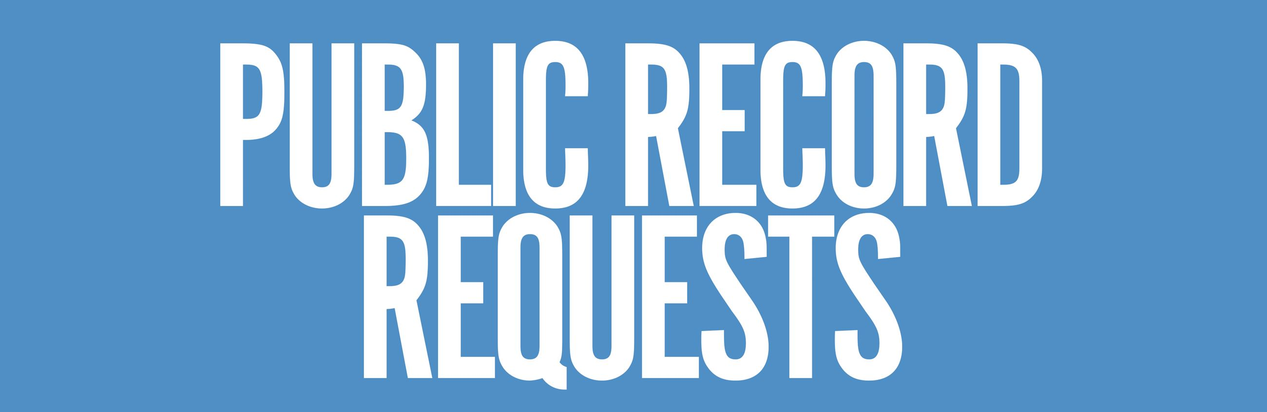 Pay Public Records Request