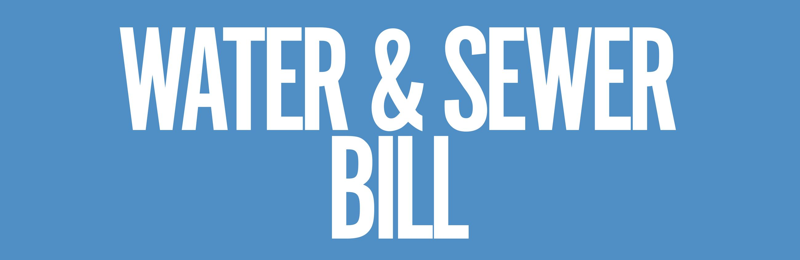 Pay Water & Sewer Bill